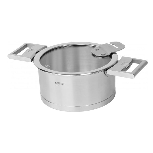 Cristel Strate L Brushed Stainless Sauce / Casserole Pan With Lid - Kitchen Universe