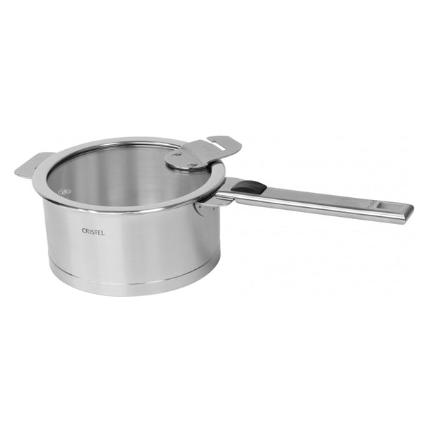 Cristel Strate L Brushed Stainless Sauce / Casserole Pan With Lid