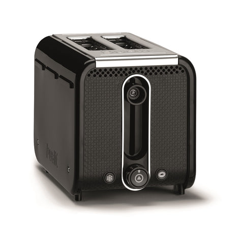 Dualit Studio 2-Slice Toaster, Black/Polished