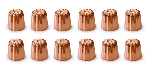 Mauviel M'passion Copper Canele Mold w/Tinned Lined Interior, 12 Units