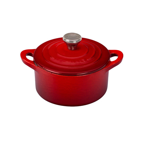 Le Creuset Enameled Cast Iron Mini Cocotte, 1/3 qt, Cerise - Kitchen Universe