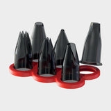 de Buyer Tritan Pastry Nozzles for Piping Bags and for Le Tube Piston, Set of 6 Geometric