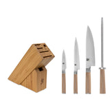 Shun Classic Blonde 5-Piece Knife Set with Bamboo Slimline Block