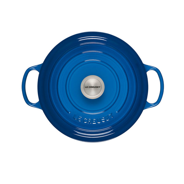 Le Creuset Signature Enameled Cast Iron Round Dutch Oven, 5.5 qt, Marseille