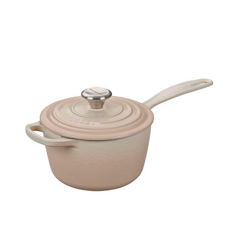 Le Creuset Signature Enameled Cast Iron Sauce Pan with Lid, 2.25 qt, Meringue