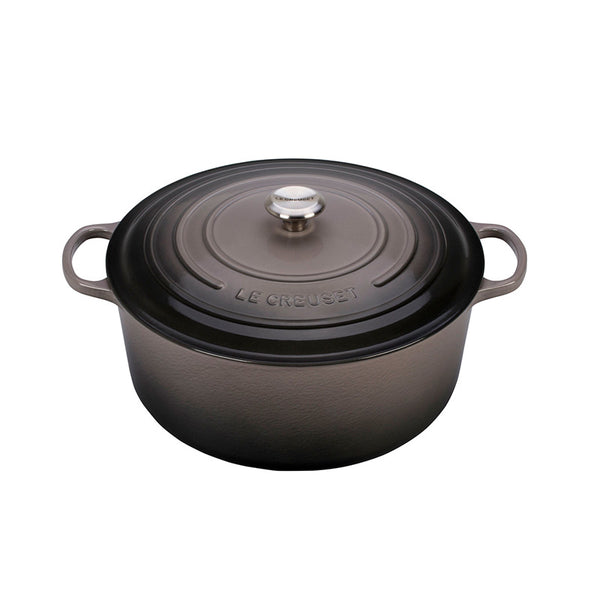 Le Creuset Signature Enameled Cast Iron Round French / Dutch Oven, 13.25 qt, Oyster