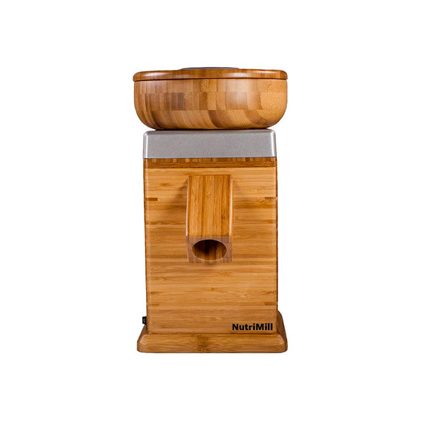 NutriMill Harvest Grain Mill, Silver Trim