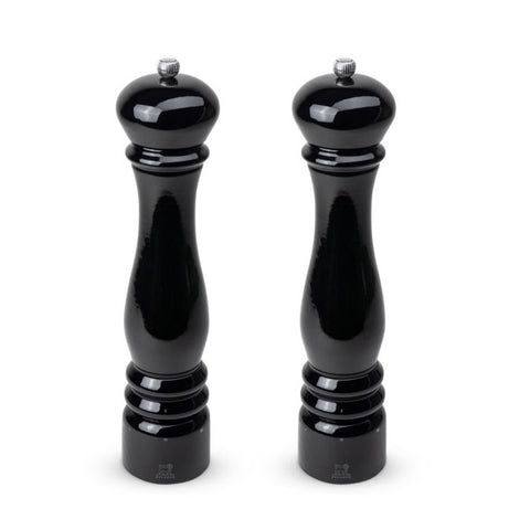 Peugeot Paris électrique Electric Pepper & Salt Mill Set, Black Lacquer, 13.5-in