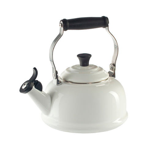 Le Creuset Enamel on Steel Whistling Tea Kettle, 1.7 qt, White