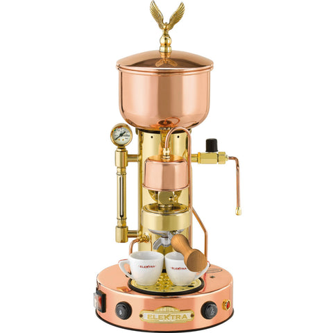 Elektra SX Microcasa Semiautomatica Commercial Espresso Machine, Copper & Brass - Kitchen Universe