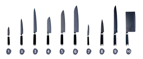 Michel Bras 10-Piece Knife Set