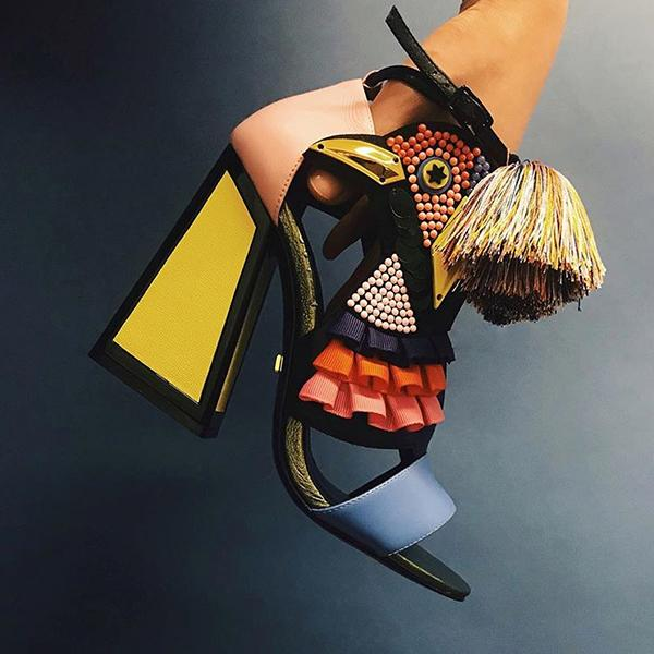 Aya Multi Coloured High Heels | Kat Maconie