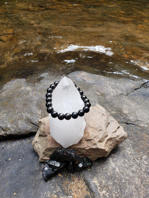 Shungite Bracelet - 8mm Beads, Adult