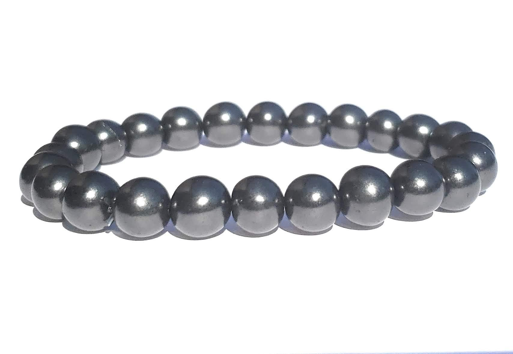 Shungite Bracelet - 8mm Beads, Adult - Karelia Creations