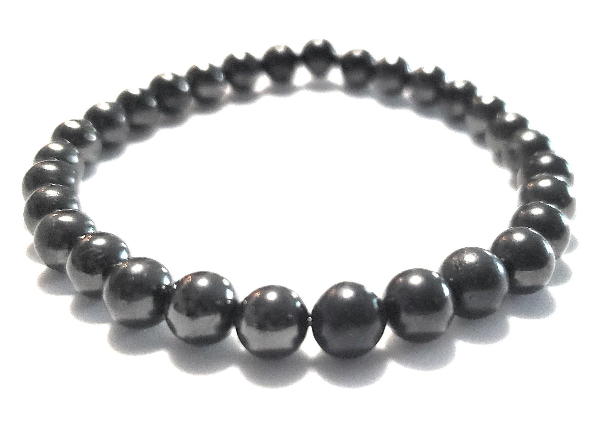 Shungite Bracelet - 6mm Beads, Adult - Karelia Creations