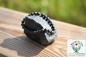 Shungite Bracelet - 6mm Beads, Adult