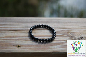 Shungite Bracelet - 6mm Beads, Kids