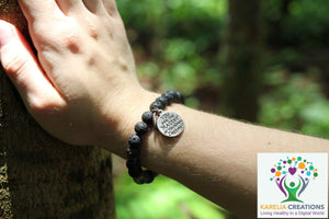 Essential Oil Diffuser and Shungite Chakra Bracelet - Karelia Creations