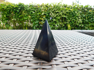 Shungite Pyramid 3.5-Inch Polished - Reiki Charged Power Pyramid