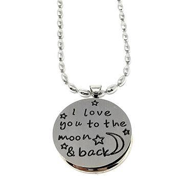 "CLEARANCE - ""Love You to the Moon & Back"" Shungite Pendant - Karelia Creations"