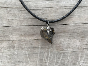 Elite Noble Raw Shungite Pendant and Leather Necklace - Karelia Creations