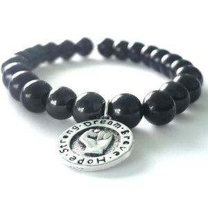 Fist of Courage bracelet - Dream, Brave, Hope, Strong, BLM