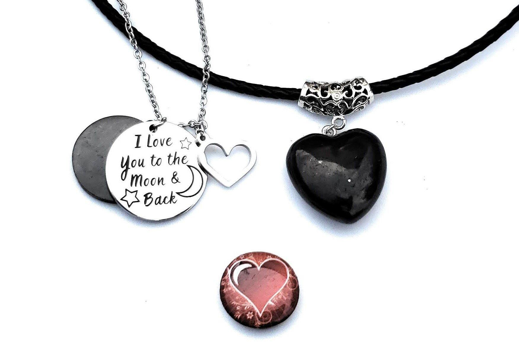 Shungite Bundle: From Our Heart - Bonus: Free Shungite Heart Cell Phone Disk - Karelia Creations