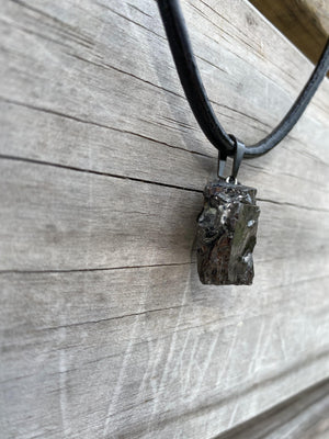 Large Elite Noble Raw Shungite Pendant Necklace - Karelia Creations