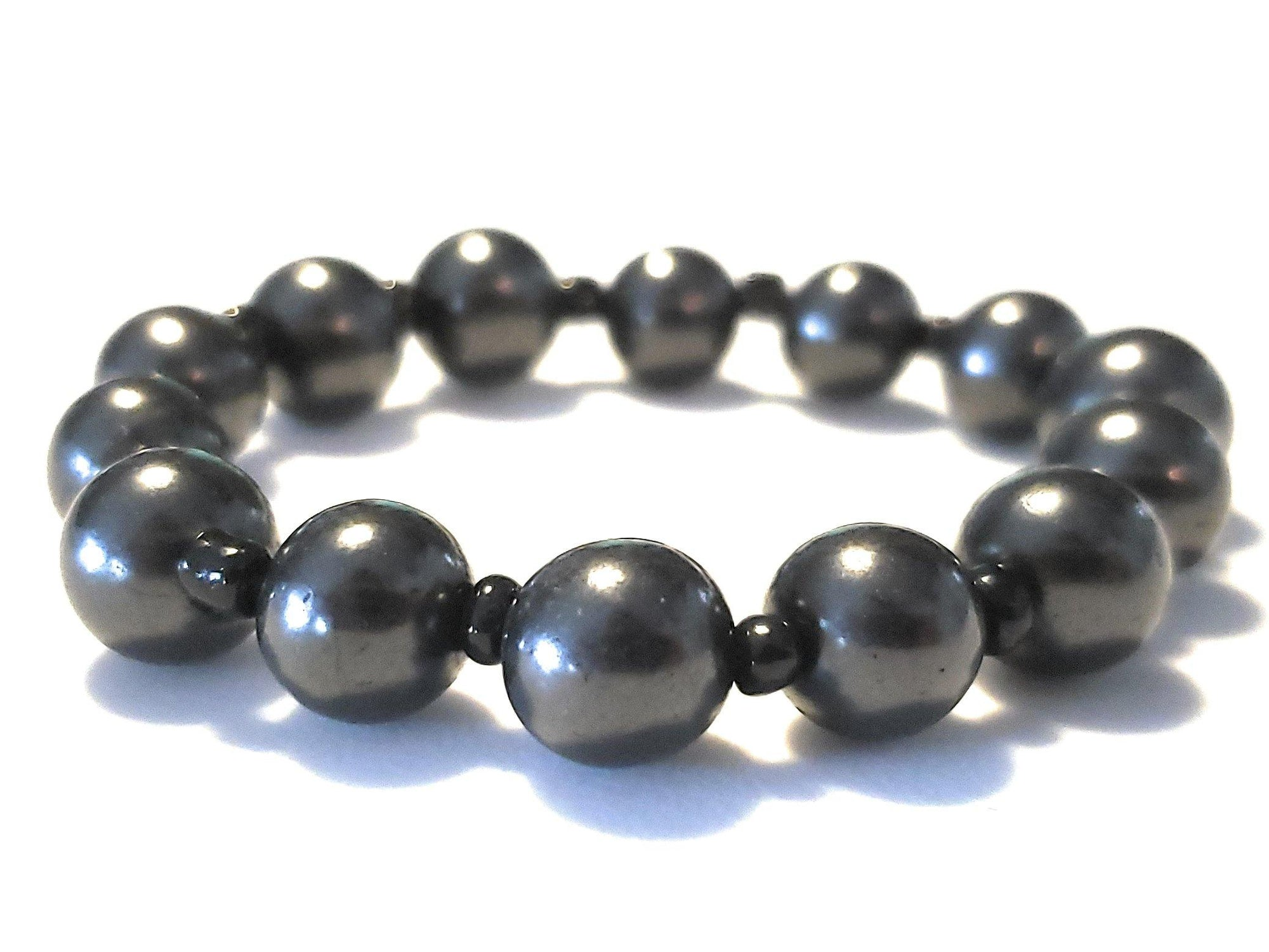 Shungite Bracelet - 10mm Multi-Beads, Adult - Karelia Creations