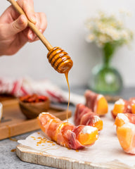 Prosciutto wrapper melong with infused honey in ONGROK Botanical Infuser
