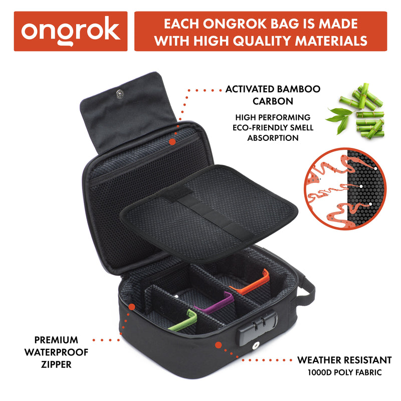 ONGROK's Activated Carbon Smell Proof Case with Combo Lock