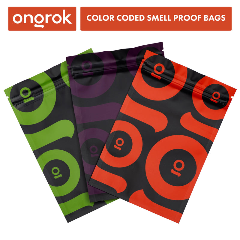 Smell Proof Mylar Bags | 24 Pack - ONGROK -  - ongrok
