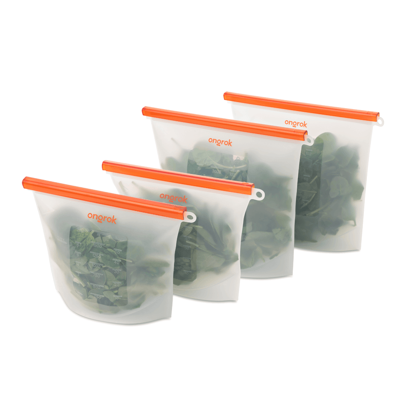 ONGROK Air-Tight Silicone Storage Bags | 2 Pack