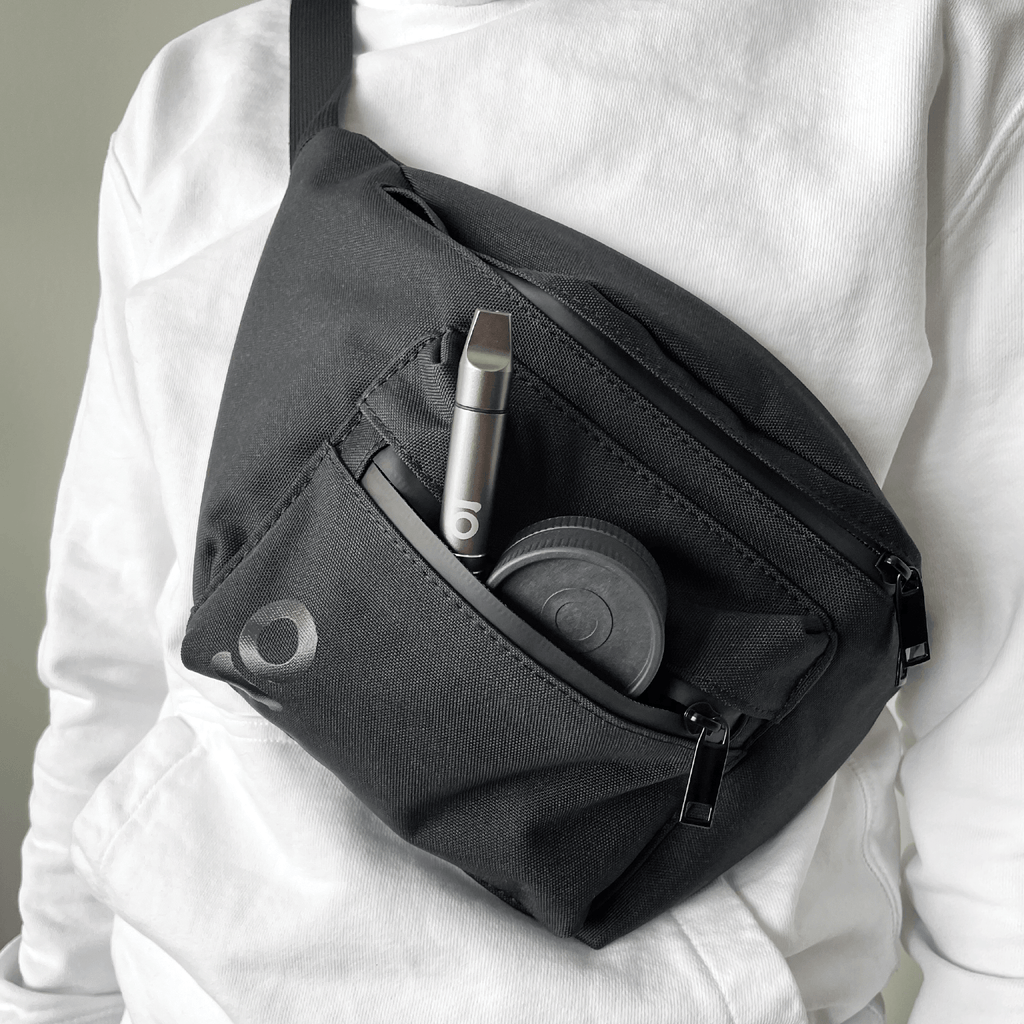 Person wearing ONGROK Smell Proof Travel Pouch & Cross Body Bag