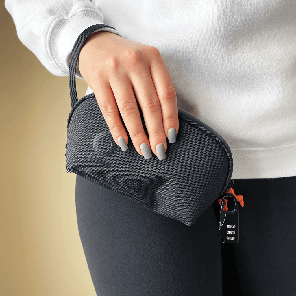 Woman wearing ONGROK Smell Proof Wrist Bag with Lock
