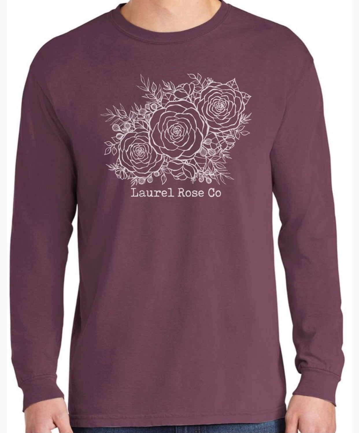 Three Roses Long Sleeve Tee
