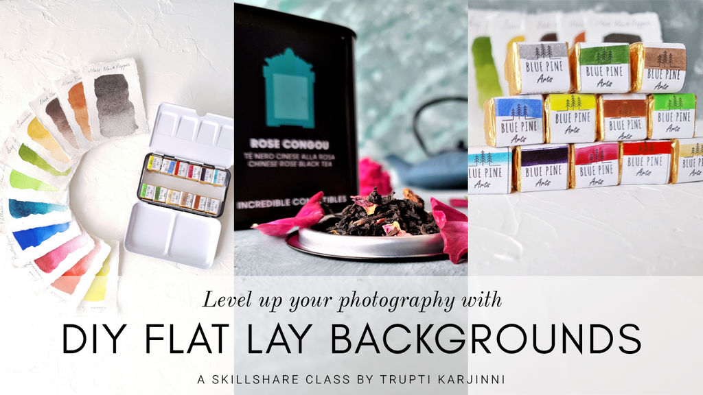 DIY Flatlay Photography Backgrounds - online tutorial