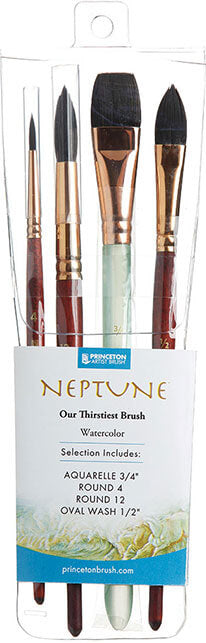 Princeton Neptune Series Brush - Professional 4 Piece Set - Pre-Order