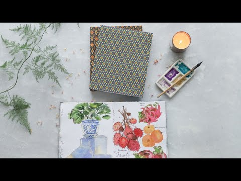 Medium Watercolor Sketchbooks - The Ochre Collection