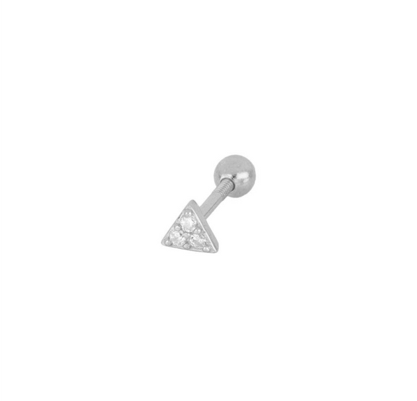 Piercing Triangle Mini Silver