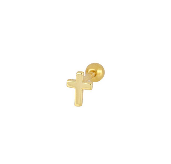 Piercing Mini Cruz Gold
