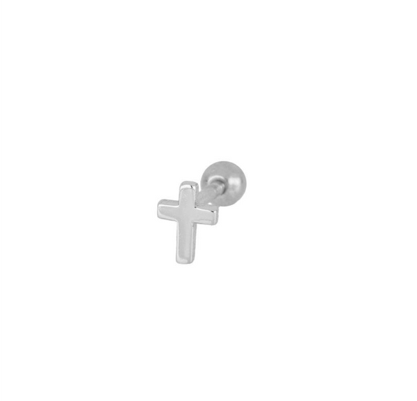 Piercing Mini Cruz Silver