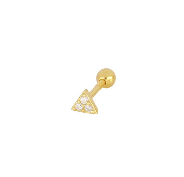 Piercing Triangle Mini Gold