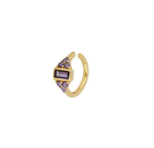 Earcuff Olimpia Violet Gold