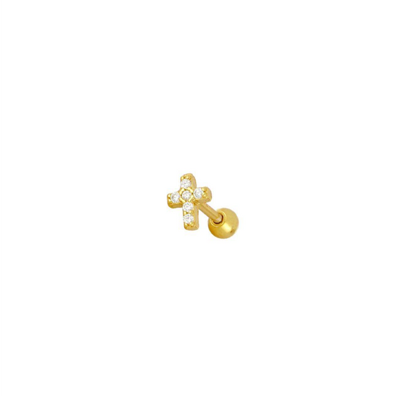 Piercing Brille Cross Gold