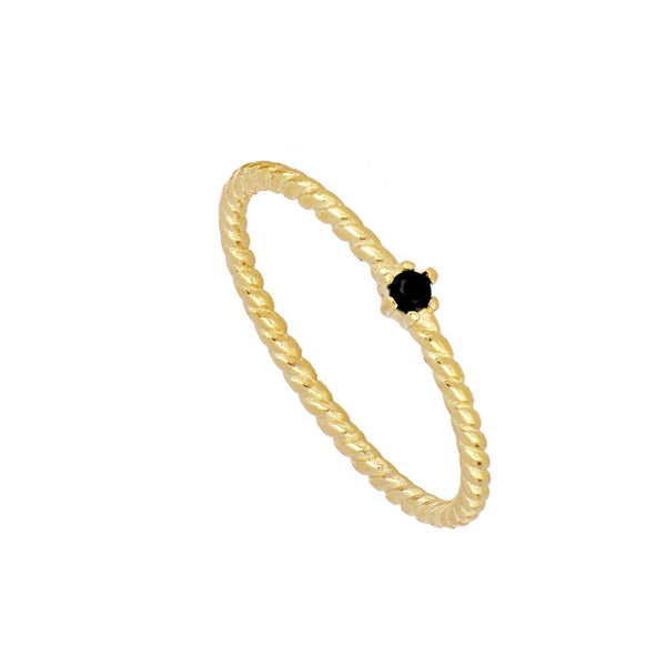 Anillo Alda Black Gold