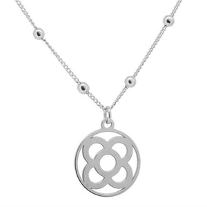 Modern Ball Silver Necklace