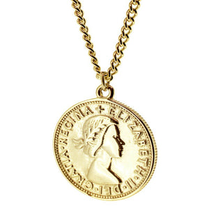 Collar Moneda Elizabeth Gold