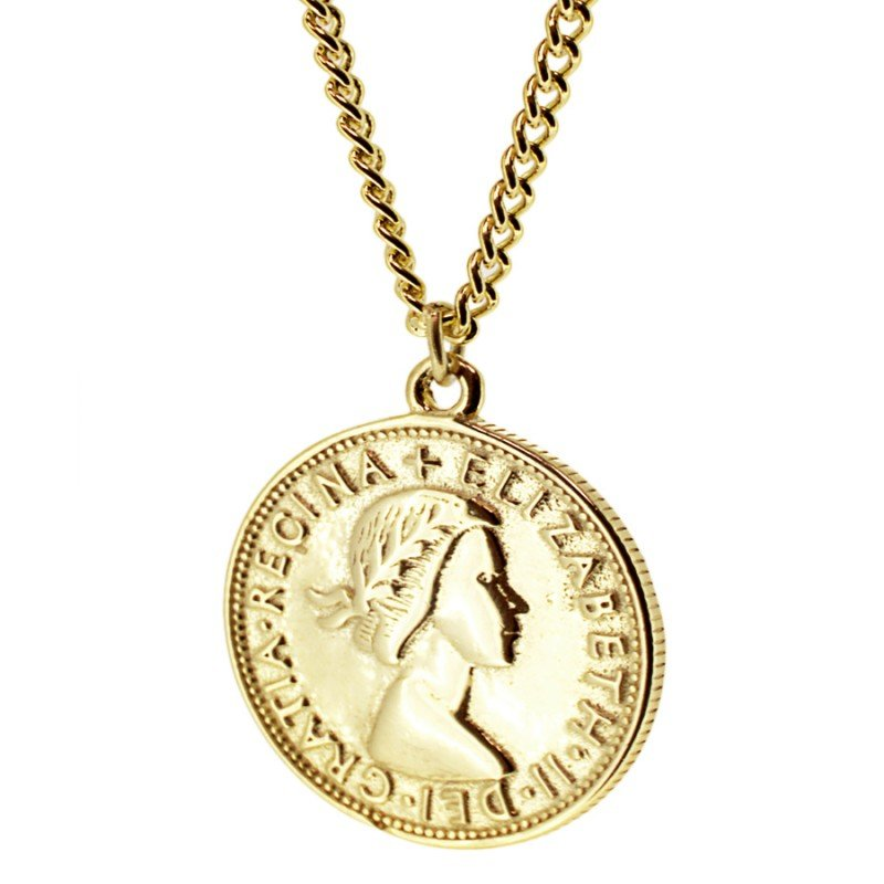 Elizabeth Gold Coin Necklace