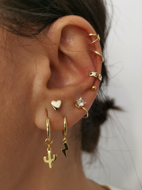 Pendientes Thunder Gold